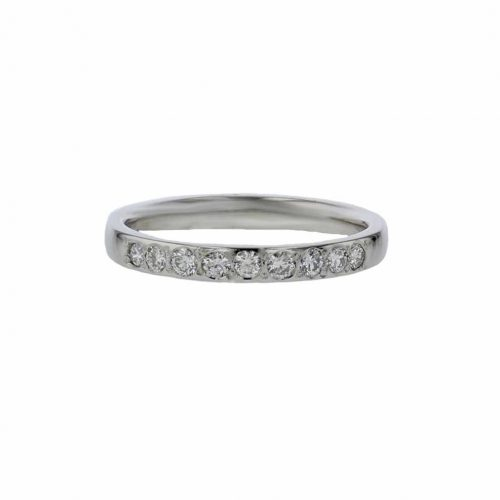 Wedding Rings for Her Platinum Wedding Ring, 9 Pavé Diamonds