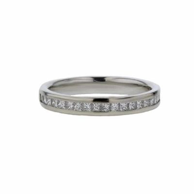 Rings 18ct. White Gold Ring, 18 Channel set Diamonds