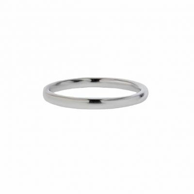 Rings 18ct. White Gold Plain Ring
