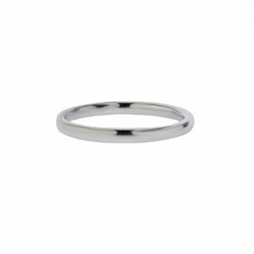 Rings 18ct. White Gold Plain Ring