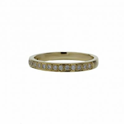 Rings 18ct. Yellow Gold Ring, 17 Pavé set Diamonds