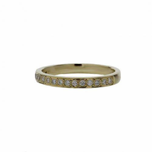 Rings 18ct. Yellow Gold Ring, 17 Pavé set Diamonds