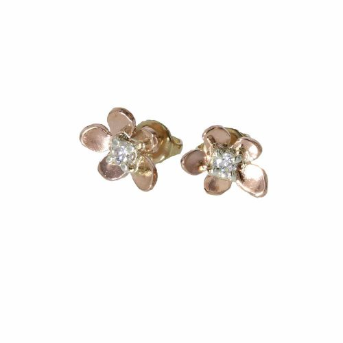 Burren Collection Rose Gold Burren Flower Earrings