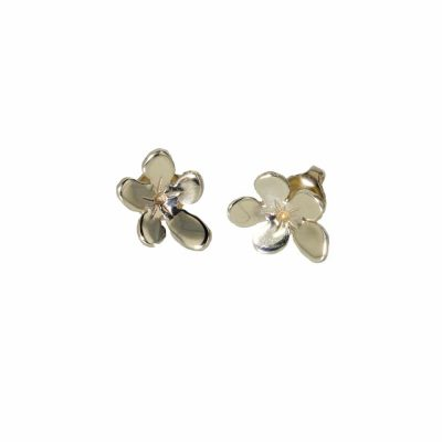 Burren Collection 9ct. Yellow Gold Burren Flower Earrings
