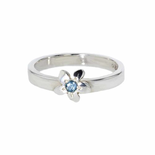 Burren Collection Sterling Silver Burren Flower Ring with Topaz