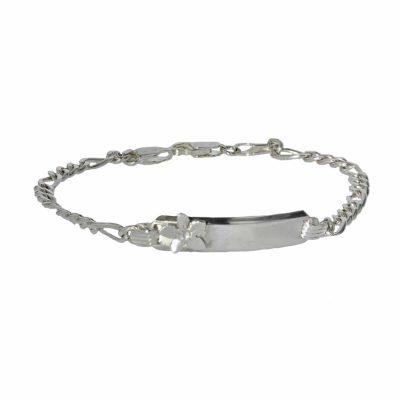 Sterling Silver Bracelet with Burren Flower
