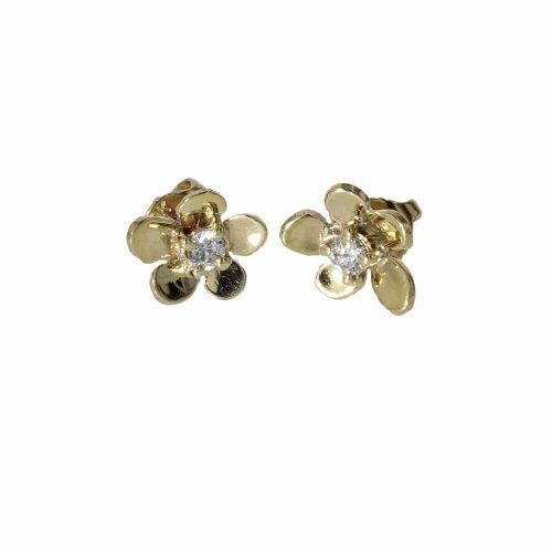 Burren Collection 9ct. Yellow Gold Burren Stud Earrings