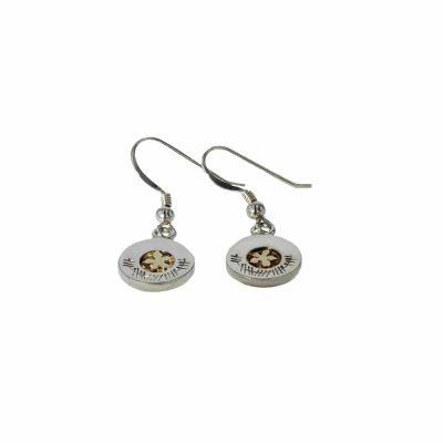 Burren Collection Drop Earrings with 9ct. Gold Burren Flower