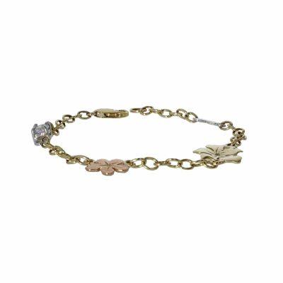 9ct. Gold Burren Flower Bracelet