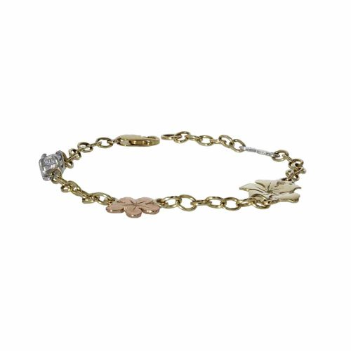 Burren Collection 9ct. Gold Burren Flower Bracelet