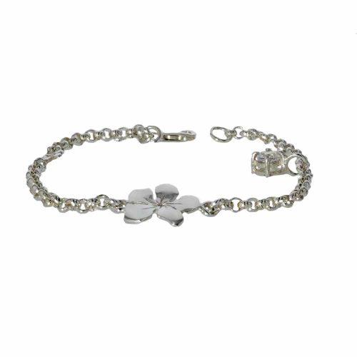 Burren Bracelets Sterling Silver Burren Flower Charm Bracelet