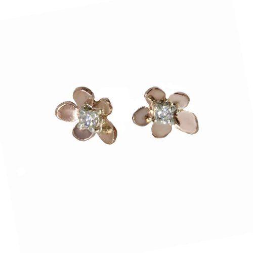 Burren Collection 9ct Rose Gold Burren Flower Earrings