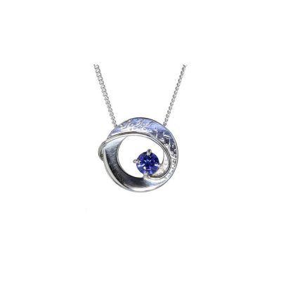 Jewellery Sterling Silver Synthetic Tanzanite Pendant