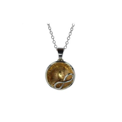 Jewellery Domed Rose Gold Plated Pendant