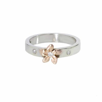 Burren Collection 9ct. White Gold Burren Flower Ring