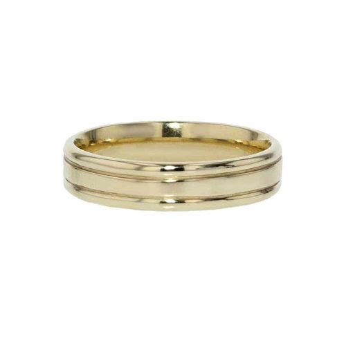 Wedding Rings for Him 9ct. Yellow Gold Satin Wedding Band