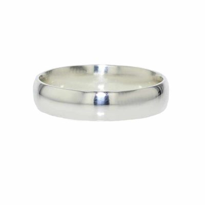 Gents Jewellery 9ct. White Gold Gents Wedding Band