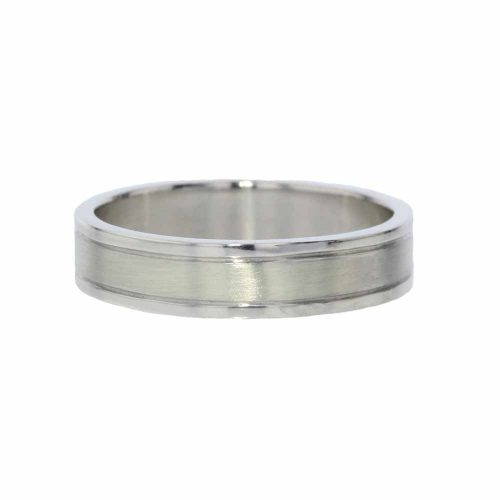 Gents Jewellery 9ct. White Gold Gents Ring