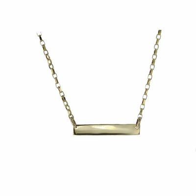 Gold Pendants 9ct. Gold Name Plate