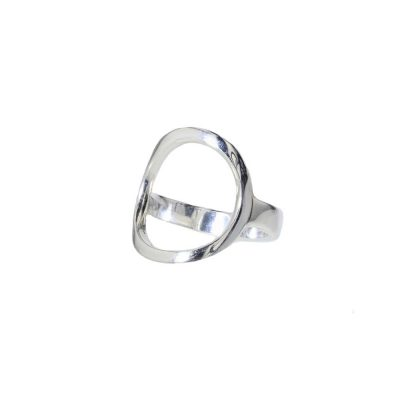 Dress Rings Open Oval Sterling Silver Ring