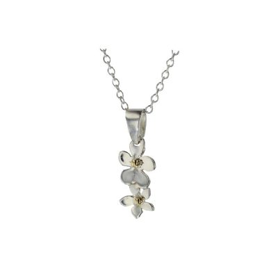 Burren Collection Burren Flower Pendant with 9ct. Gold Beads