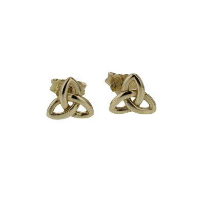 Earrings 9ct Gold Trinity Knot Earrings