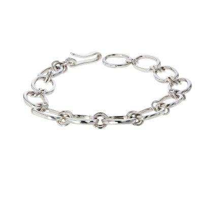 Bracelets Handmade Oval Link Sterling Silver Bracelet