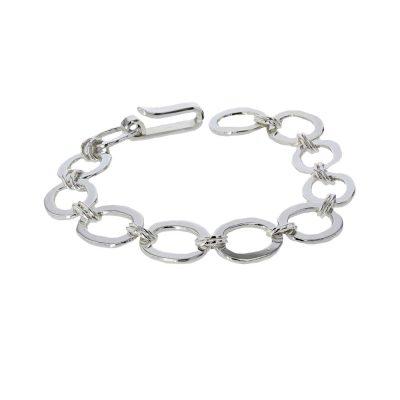 Bracelets Handmade Flat & Oval Link Sterling Silver Bracelet