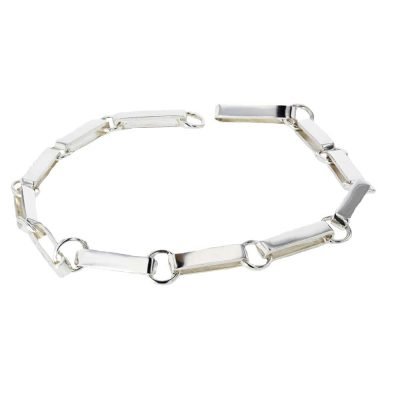Bracelets Handmade Sterling Silver Flat Link Bracelet