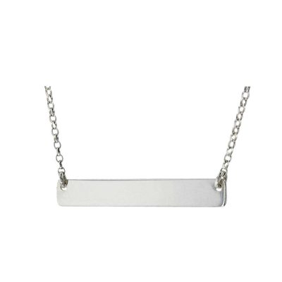 Jewellery Sterling Silver Name Plate