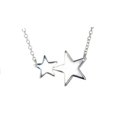 Jewellery Sterling Silver Double Star Pendant