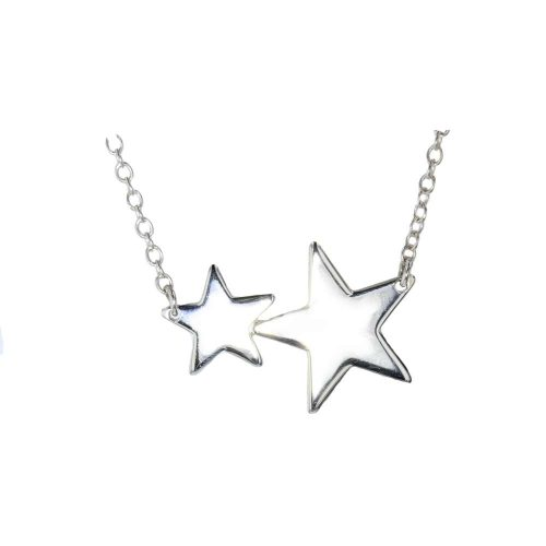 Jewellery Sterling Silver Pendant with Two Stars