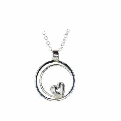 Jewellery Sterling Silver Circular Heart Pendant