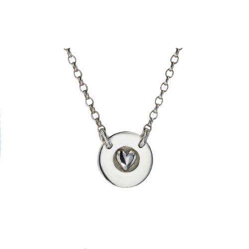 Jewellery Sterling Silver Round Heart Pendant