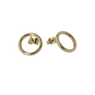 Earrings 9ct Yellow Gold Circle Earrings