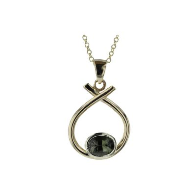 Gold Pendants 9ct. Gold Pendant with Bezel set Tourmaline