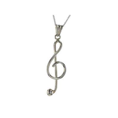 Jewellery Sterling Silver Trebel Clef Pendant
