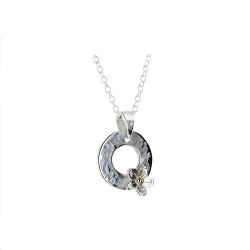 Burren Silver Pendants Single Burren Flower Silver Pendant