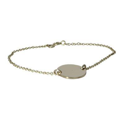 Bracelets 9ct. Gold Round Disc Bracelet