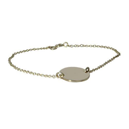 Jewellery 9ct. Gold Round Disc Bracelet