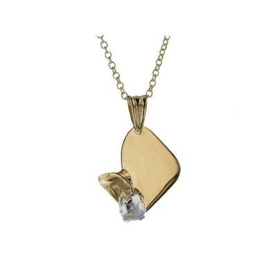 Gold Pendants 9ct. Gold Pendant with Rainbow Moonstone