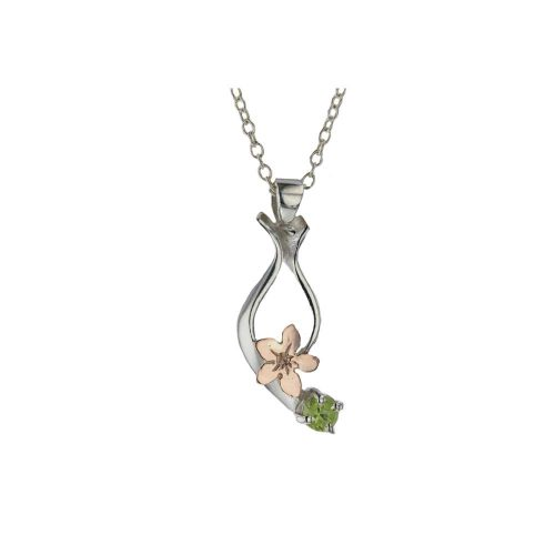Burren Collection Rose Gold Burren Flower & Amethyst Pendant