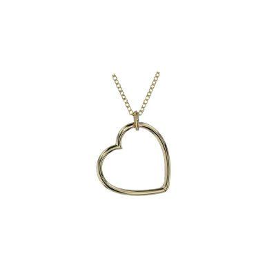 Gold Pendants 9ct Yellow Gold Heart Pendant