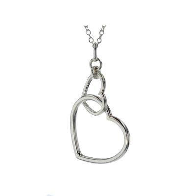 Jewellery Interlocking Sterling Silver Heart Pendant