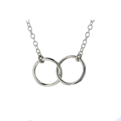 Jewellery Double Circle Pendant in Sterling Silver