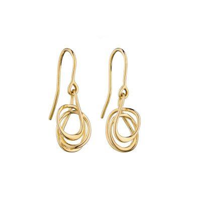 Earrings 9ct. Yellow Gold Wire Wrap Earrings