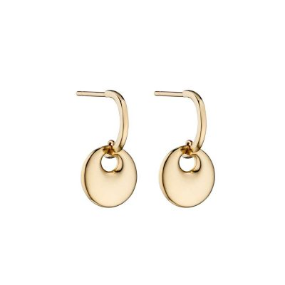 Earrings 9ct. Yellow Gold Disc Earrings