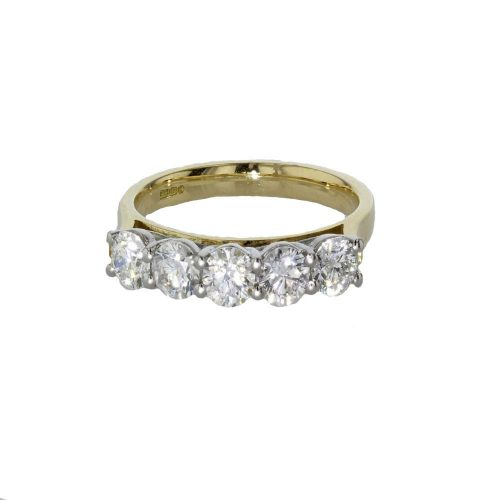 Dress Rings 18ct Yellow Gold Ring set with 5 Diamonds