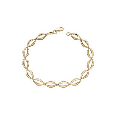 Bracelets 9ct. Yellow Gold Open Eye Link Bracelet
