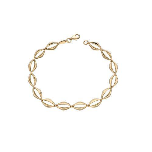 Jewellery 9ct. Yellow Gold Open Eye Link Bracelet
